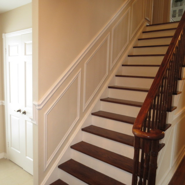Photo of chair rail wainscot from a moulding 4 u