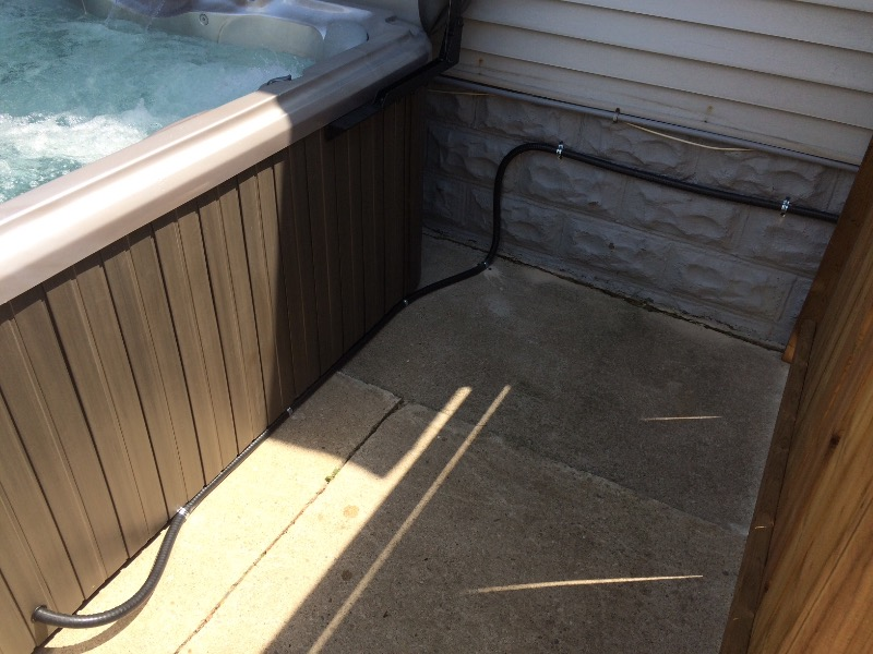 Hot tub wiring hook up
